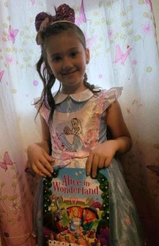 Maya as Alice in Wonderland