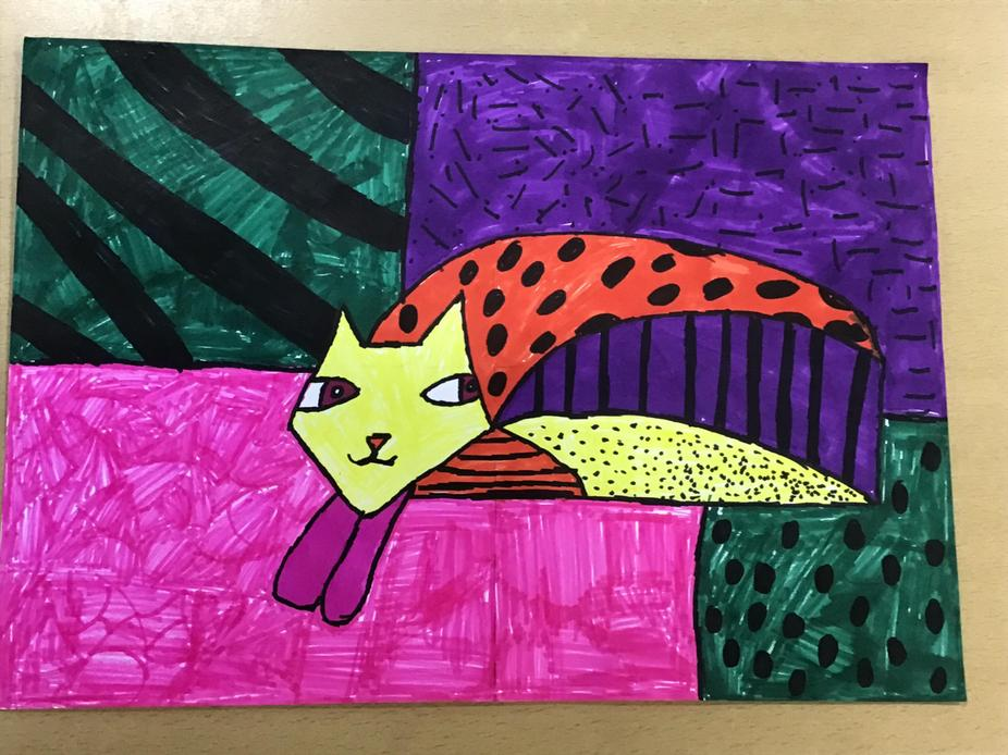 Romero Britto inspired artwork by Charlie