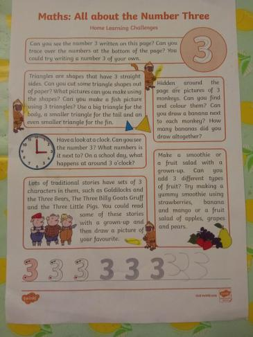 Learning all about the number 3.