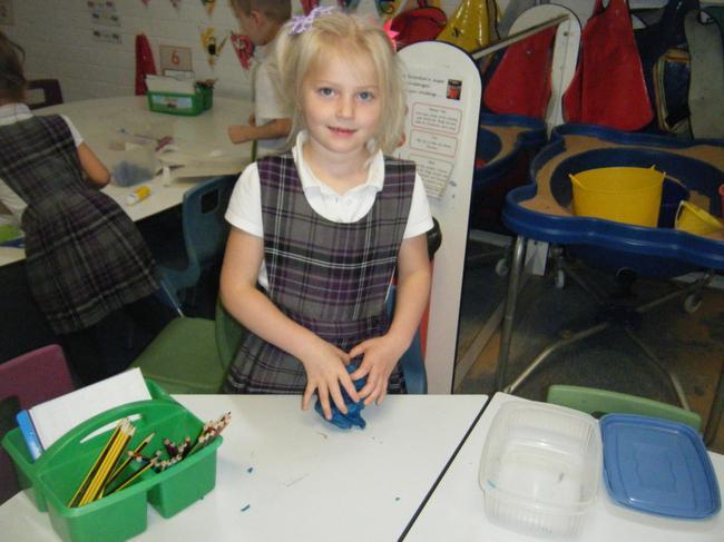 Using playdough to make a Bog Baby!
