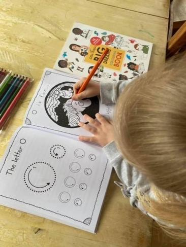 Children's mental health week - 'Colouring in makes me happy'