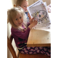 Orla has been enjoying her colouring sheets