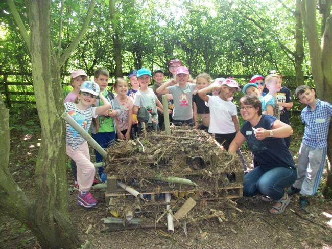 Our finished bug hotel.