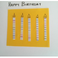 Pencil page used to create birthday candles.