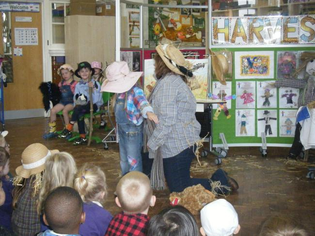 Our Scarecrow Assembly - Harvest.
