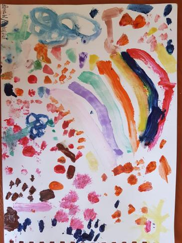Lena W's Beautiful Oops picture for Mental Health Awareness Week.