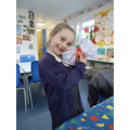 We made peg butterflies with water colour wings