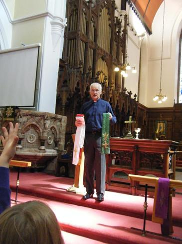 Vicar Gibbs told us about Baptisms and Weddings.