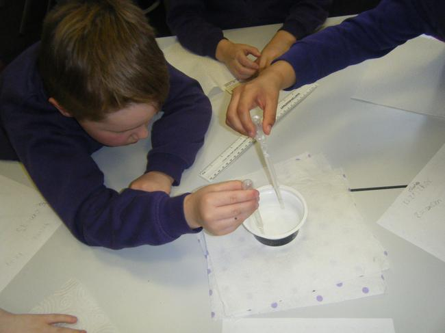 Practising a new skill-using a pipette