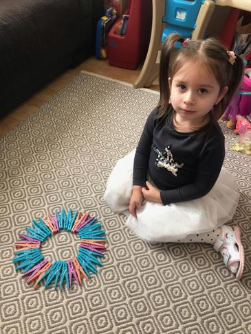 Lena Z making repeating patterns.