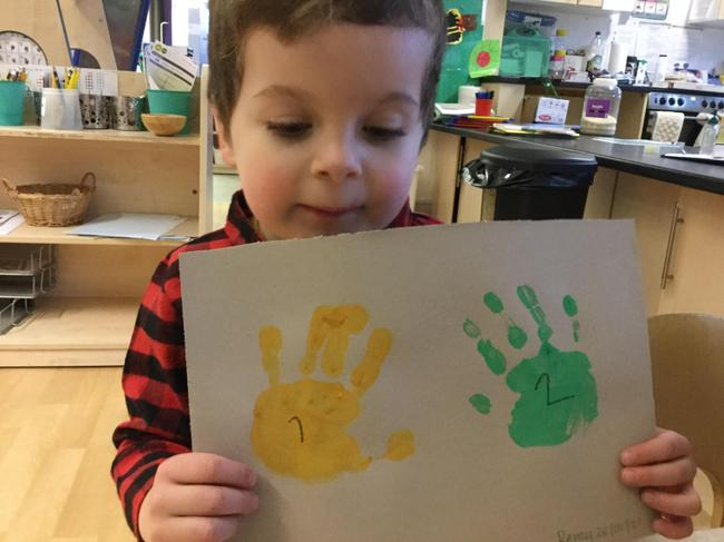 Two hand prints!