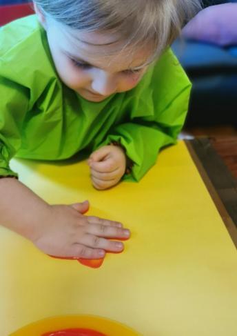 Lena K's handprints.
