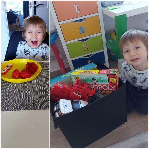 Here is Kacper's box with his favourite things and food.