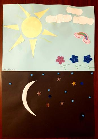 Lena's day and night picture.