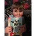 Freddie enjoying his home reading.