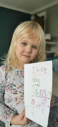 Children's mental health week - 'Making a card for my family, this makes me happy!'