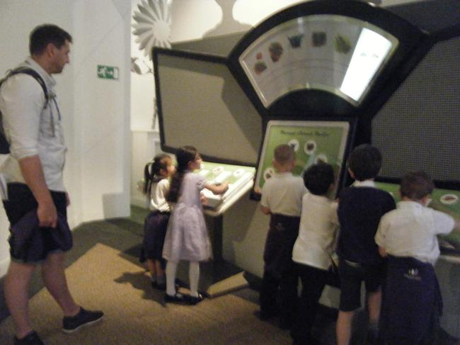 The mini-beast floor had interactive games