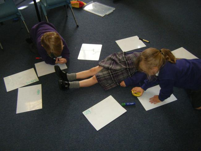 We have been labelling different body parts.