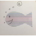 Pencil page used to create a fish.