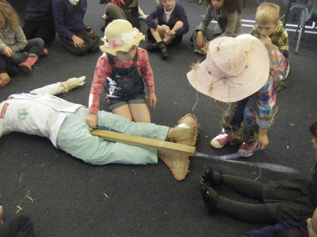 Measuring our class scarecrow