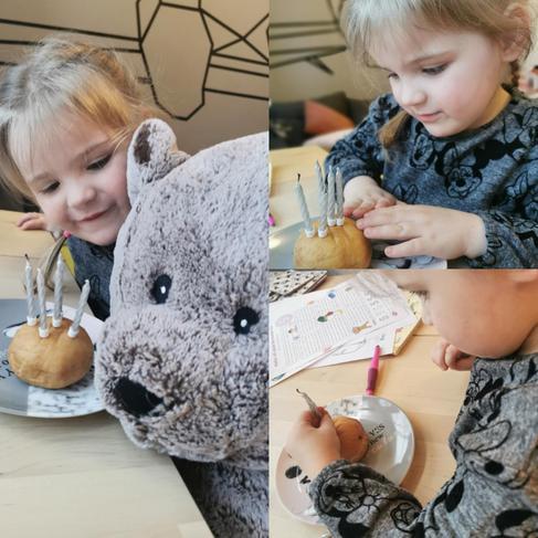 Celebrating teddy's 5th birthday.