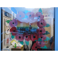The children's beautiful poppy wreath in Remembrance week