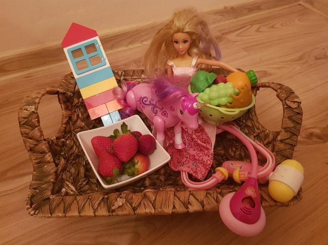Lena W's basket of her favourite things.