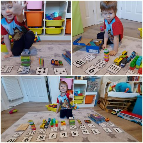 Kacper showing his excellent counting skills.