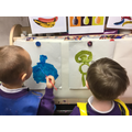 We painted pictures of fruit