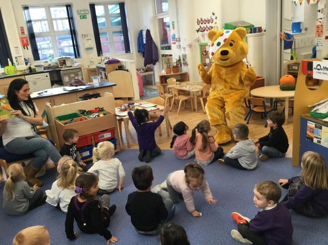 We shared our story with Pudsey Bear.