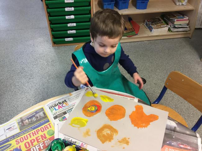 Remy used lots of bright colours which make him feel happy.