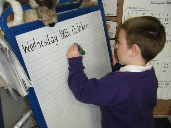 Practising writing our names