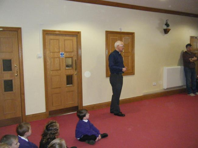 Vicar Gibbs spoke to us before we entered.