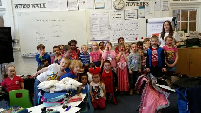 A wonderful day fundraising for Comic Relief!