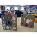 We made these photo frames during 'beach' theme weeks