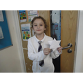 Milly showed us how to make origami stars