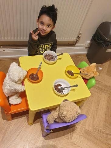Yusuf's teddy bear's picnic.