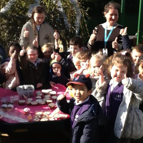 We all enjoyed ourselves selling cakes.