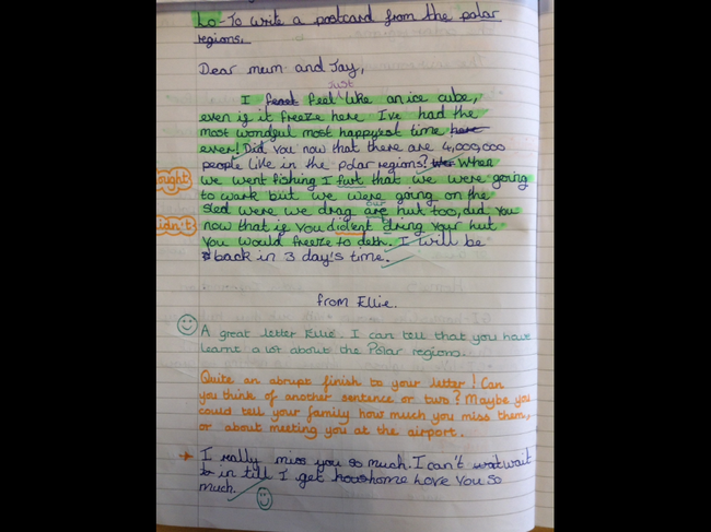 This might give you some ideas of what to write. This is another Year 5 pupil's work