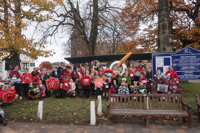 Many schools in Southport created a wreath.