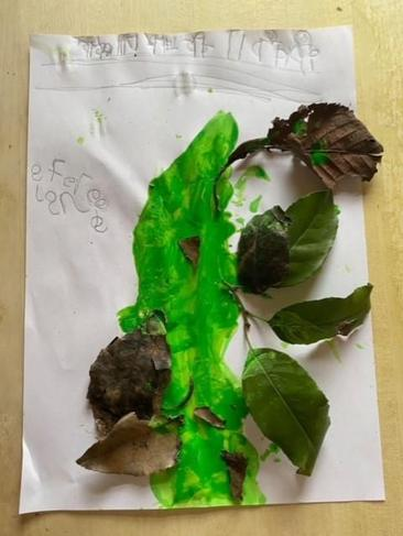 Wow  - a beanstalk with real leaves and at the top it is 'Fairy Land'