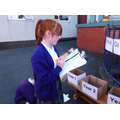 Year 6 helped out by giving out the ballot cards.