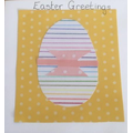 Pencil page used to create an Easter card.