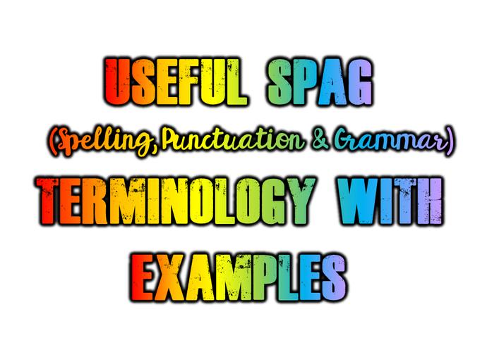 Useful SPAG (see doc below)