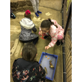 The girls become archeologists.