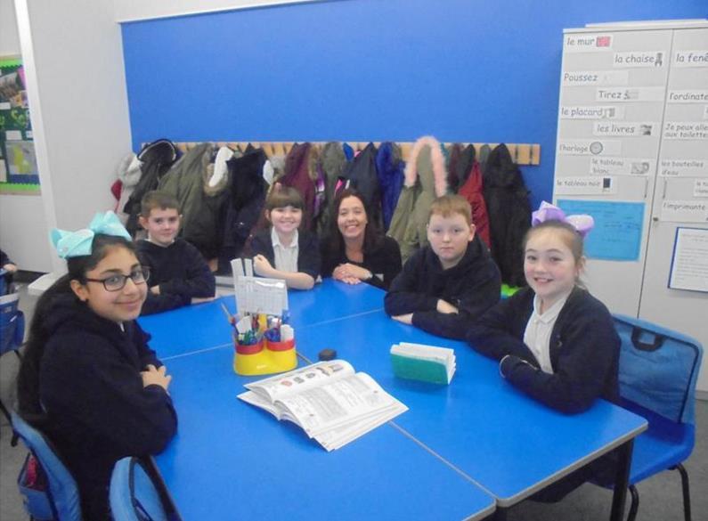 Mrs Punton With Children in Y6