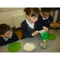 We weighed and measured the ingredients.