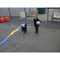 We made a football pitch.