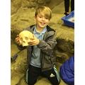 Leon enjoying his archeology experience!