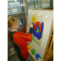We have been using the new painting area.